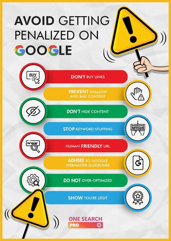 How to Avoid Getting Penalized by Google - One Search Pro Digital Marketing Agency