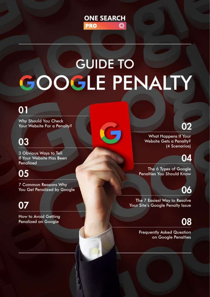 Guide to Google Penalty - One Search Pro Digital Marketing Agency